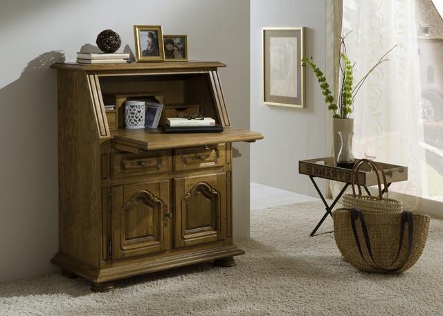 sekret r eiche massiv braun rustikal schreibsekret r schreibtisch kommode neu ebay. Black Bedroom Furniture Sets. Home Design Ideas