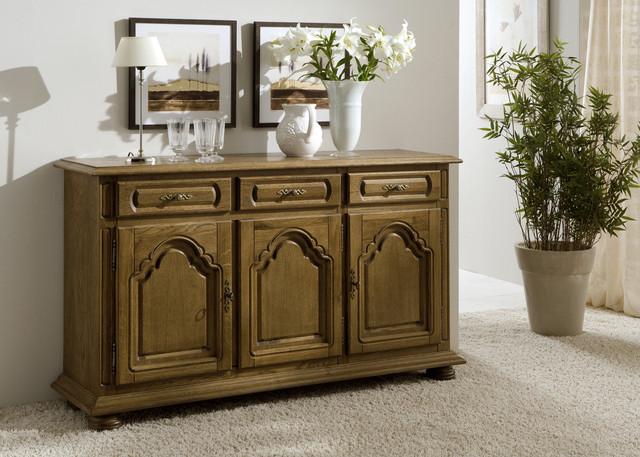 anrichte eiche massiv rustikal braun kommode schrank sideboard 3 t rig neu ebay. Black Bedroom Furniture Sets. Home Design Ideas