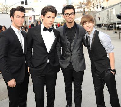 Foto de Justin y Los Jonas Brothers