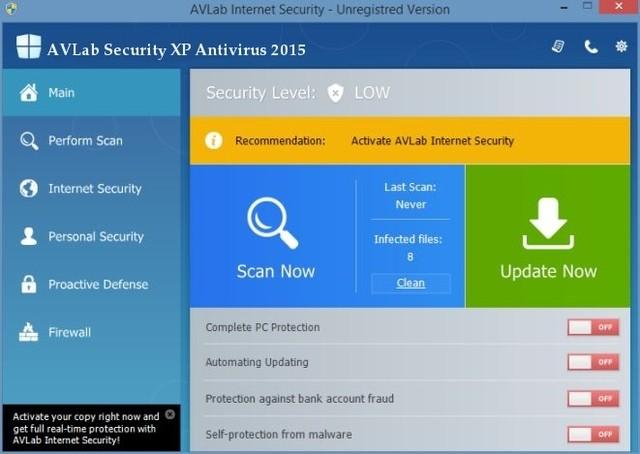 AVLab Security XP Antivirus 2015