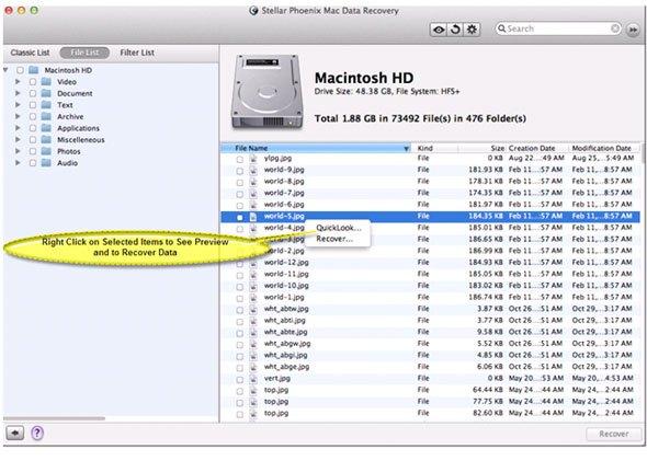 Mac OS X Mac OS X DMG File Recovery - Retrieve Mac Files Easily