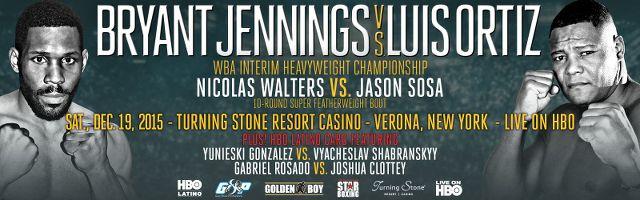 "Luis ""The Real King Kong"" Ortiz vs Bryant ""By-By"" Jennings en Vivo – Sábado 19 de Diciembre del 2015"