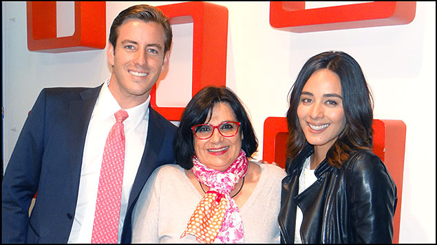 Esmeralda Pimentel y Juan Diego Covarrubias con la productora Lucero Suarez