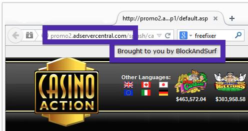 Adservercentral.com Pop-up
