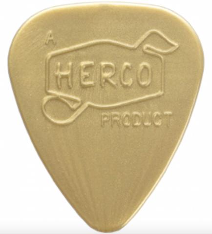 10 x jim dunlop herco vintage 39 66 nylon guitar picks light picks gold. Black Bedroom Furniture Sets. Home Design Ideas