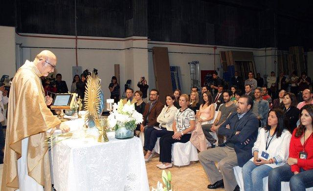 Foto de la misa en honor de la telenovela