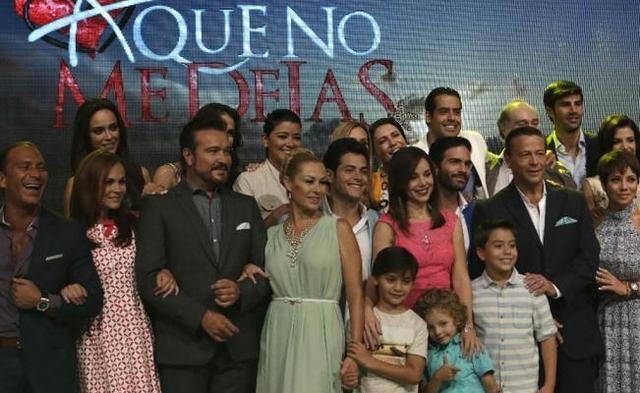 Foto realizada en la presentación de la telenovela