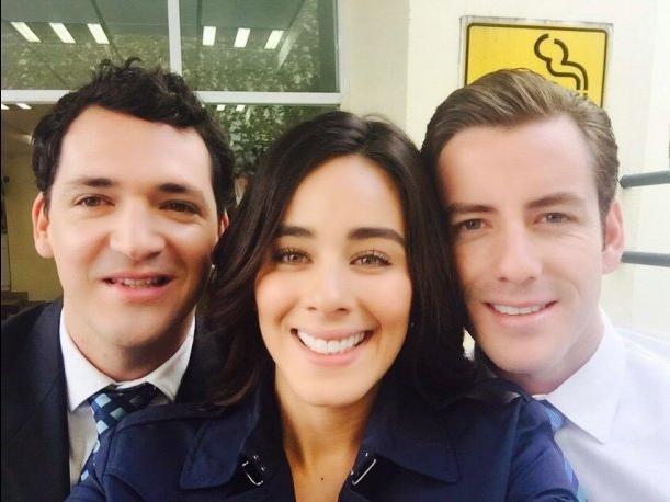Selfie de Esmeralda Pimentel, José Manuel Lechuga  y Juan Diego Covarrubias
