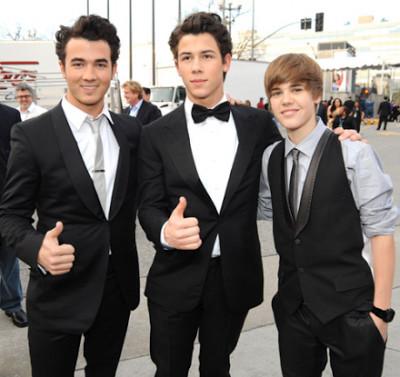 Foto 2 de Justin y Los Jonas Brothers