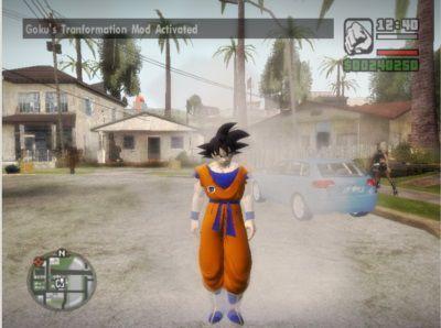 Goku en GTA San Andreas
