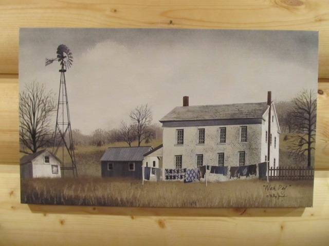 Primitive Country 12x20 Canvas Print Billy Jacobs