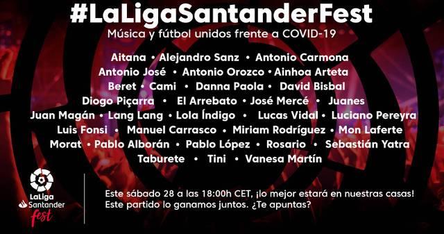 Cartel LaLiga Santander Fest 2002 contra COVID 19
