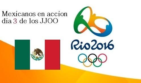 Mexicanos en acción del Domingo 7 de agosto en los Juegos Olímpicos de Río 2016