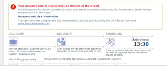 new online checkin olci message passport check