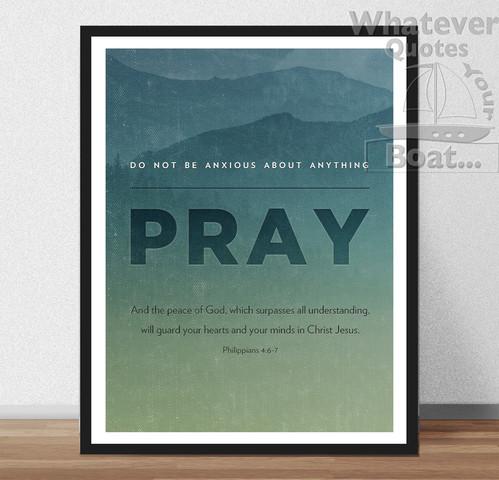 pray jesus christ quote bible print poster christian