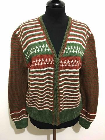 8b1d0bb21a5a8 CULT VINTAGE AÑOS 70 Suéter De Mujer Cárdigan Lana Lana mujer suéter Sz. L  - 46