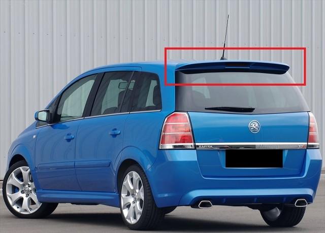 Opel Vauxhall Zafira B Mk2 Rear Roof Spoiler Opc Line Look New Ebay