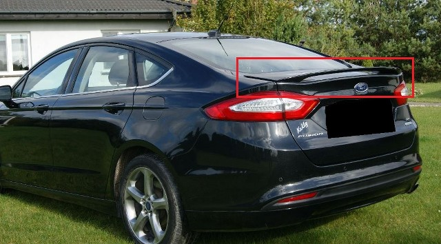 ford mondeo 5 mk5 saloon sedan from 2014 rear boot trunk spoiler new fusion ebay. Black Bedroom Furniture Sets. Home Design Ideas