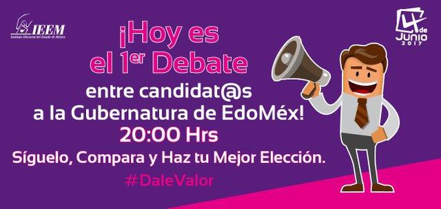 Debate Candidatos a la Gubernatura del Estado de México en Vivo – Martes 25 de Abril del 2017