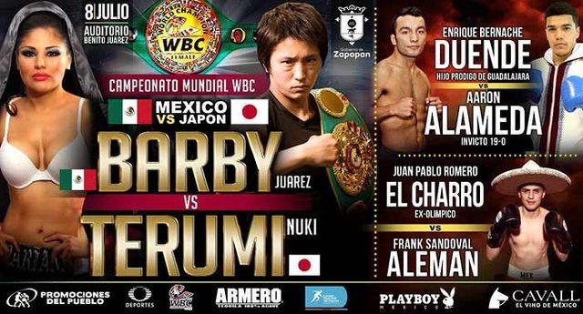 Mariana «La Barby» Juárez vs Terumi Nuki en Vivo – Box – Sábado 8 de Julio del 2017