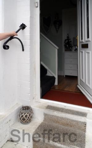 Wrought Iron Metal Stair Handrail Ornamental Grab Rail