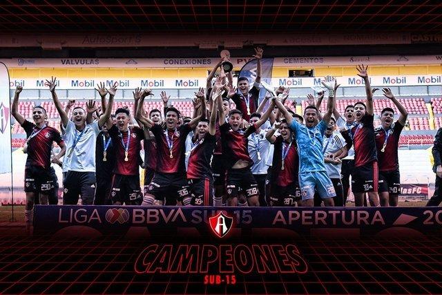 Atlas gana a América y es campeón Sub15