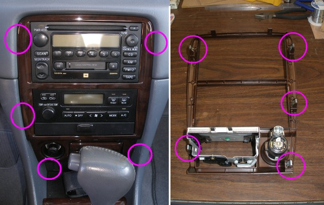 DIY - How to fix a flakey volume control in a 2001 Camry XLE radio