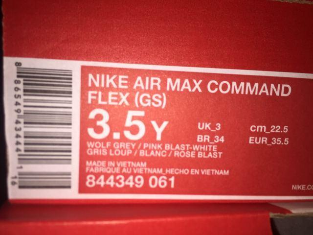 SCARPE DONNA NIKE ORIGINALI AIR MAX COMMAND FLEX 844399 TELA SHOES A/I 2016/17