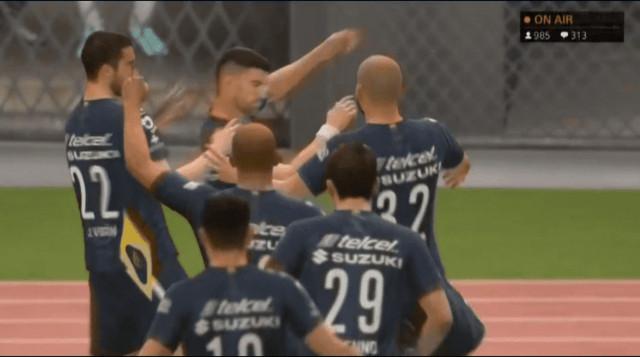 Resultado Pumas vs Monterrey  -J3- eLiga MX FIFA 2020