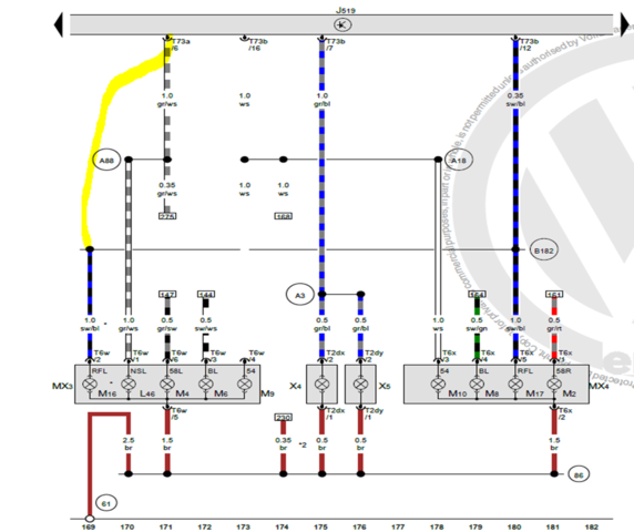 the karmann ghia online resource volkswagen light diagram: help needed!!  rear fog light retrofit polo gti 6r