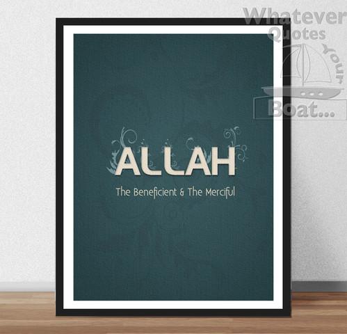 Quote Poster Print Life Frame ALLAH ISLAM Prophet Muhammad MUSLIM