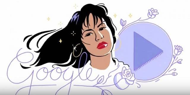 Emotivo 'doodle' sobre Selena