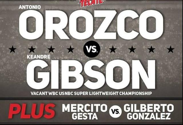 Antonio Orozco vs KeAndre Gibson en Vivo – Sábado 1 de Abril del 2017