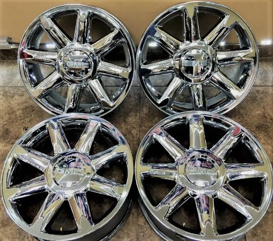 20 inch yukon sierra denali wheels rims factory oem 5304 chrome clad 4set 4 set ebay. Black Bedroom Furniture Sets. Home Design Ideas