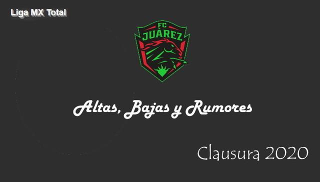 Altas, Bajas y Rumores del FC Juarez – Clausura 2020