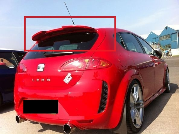 PU Roof spoiler Seat Leon 1P 2005-2009 Small