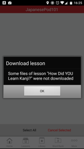 Learn Japanese Forum - Android Download Issue