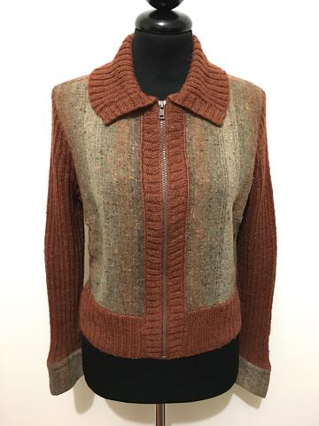 CULT VINTAGE  70 Cardigan Maglione Donna Lana Wool Woman Sweater Sz ... 4cfbaed972b