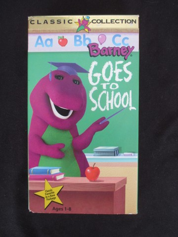 Barney Goes To School VHS 1996 Classic Collection