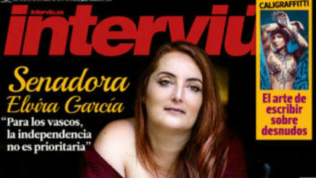 Elvira García en Interviú