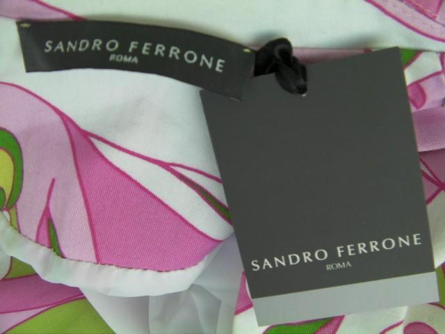 GIACCA DONNA SANDRO FERRONE ORIGINALE L 44 FLOREALE JACKET WOMAN COTONE NUOVO