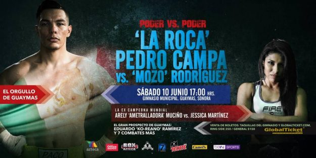 Pedro Campa vs Juan Antonio «Mozo» Rodríguez en Vivo – Box – Sábado 10 de Junio del 2017