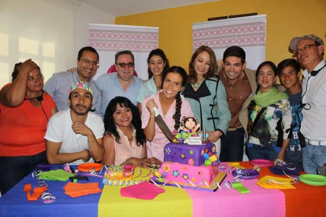 Claudia Alvarez festejando su cumpleaños