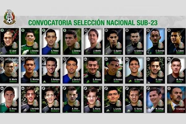 Convocados a la Selección Nacional de México Sub-23