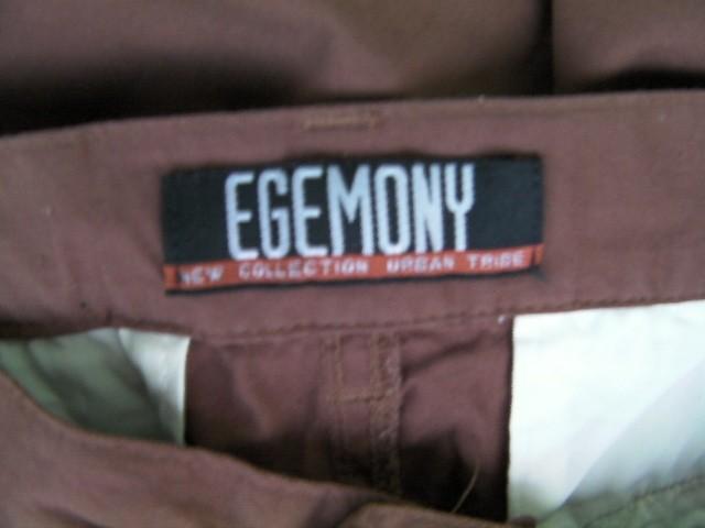 PANTALONE UOMO EGEMONY ORIGINALE M MARRONE COTONE PANTS MAN TASCHE LEGGERO NUOVO