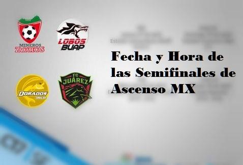 Fechas de las Semifinales del Ascenso MX
