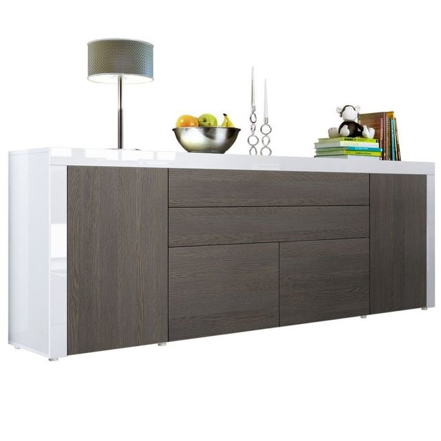napoli credenza moderna madia cassettiera mobile soggiorno. Black Bedroom Furniture Sets. Home Design Ideas