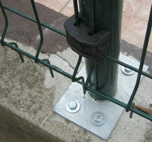 auto vis de forage panneau de clôture PVC support pour carré poteau de clôture