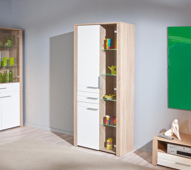 Vetrina moderna Letizia in due modelli, mobile soggiorno e sala moderno