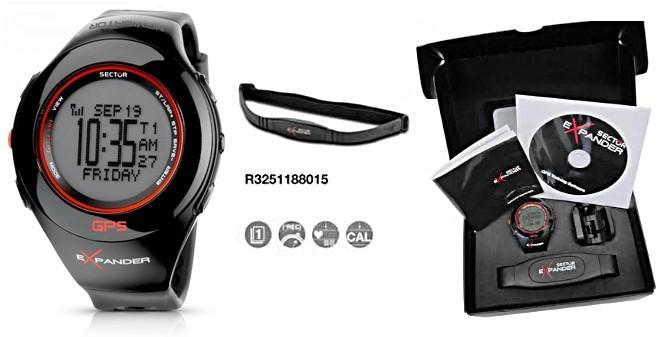 Dettagli su OROLOGIO SECTOR EXPANDER GPS + CARDIOFREQUENZIMETRO + ALTIMETRO R3251188015